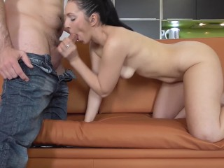 Fucking with Pamela Sanchez and playing with her saliva and with her feet