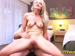 Slutty Blonde Hooker Lets Everyone Anal Fuck Her In Hotel Room Lots Of Cum