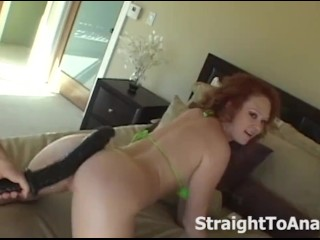 Audrey Hollander Stuffing Dildos In Her Anal