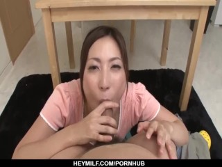 Mirei Yokoyama throats the big cock in perfec - More at Japanesemamas.com