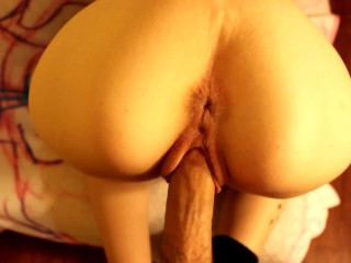 Big Ass Step-Sister Rides Dick And Gets Fucked Hard