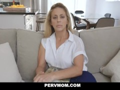 PervMom - Horny Big Tit Mom Fucks Panty Sniffing StepSon