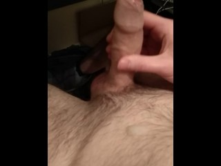Slow gentle wank with cumshot, trying to keep moans quiet
