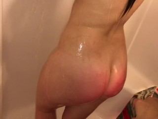 Young steamy first time shower sex