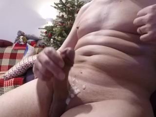 Masturbation in the New Year. Cumshot