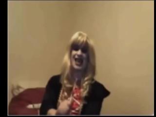 evil girl on webcam