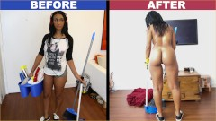 BANGBROS - Ebony Maid Arianna Knight Has An Incredible Body