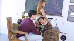 TeamSkeet - Ebony Teen Sarah Banks Ass Worshipped By White Cock