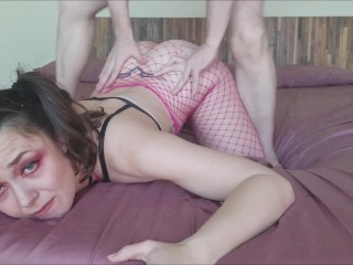 Pink Painal Anal Fishnets | Prone Bone PAWG Teen Deep Throat Slut