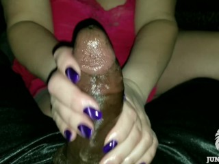 Mom Gives Sensual BlowJob That Turns To Sensual HandJob With Cum Eruption