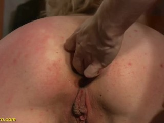 her first anal in public
