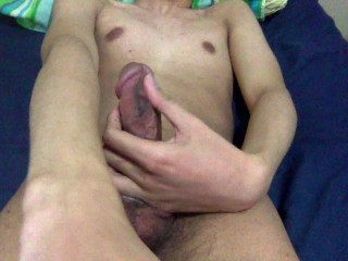shooting a big load with a stranger on webcam