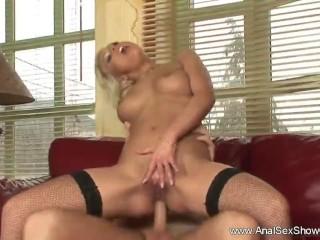 Blonde Slut Craves Anal Sex
