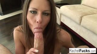 Rachel's Hot Blowjob & Facial