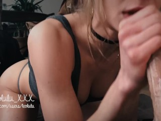 #VDAY2018 Sloppy Blowjob Deepthroat Cum In Mouth (selfie) – Amateur LeoLulu