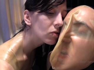 INTENSEブレスコントロールでヘビーボンデージのElise Graves Tortures Man!