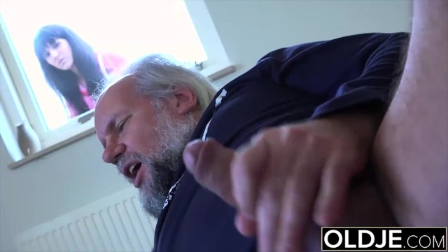 19 yo helps grandpa gave orgasm by fucking him cum swallow - 2 part 6