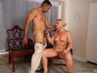 Blonde MILF Selah Rain Takes Cock Deep In Her Ass