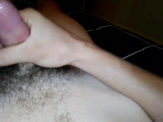 young 20 year old guy jerks off and cums