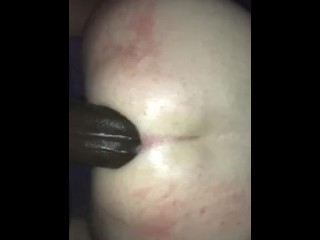 Pegging my husband, stretching his ass with my huge cock