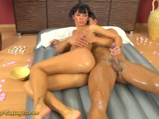nuru massage sex with Gina Devine