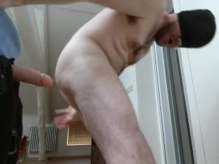 Straight guy fucked by huge cock, phantasm - practising and sucking dildo
