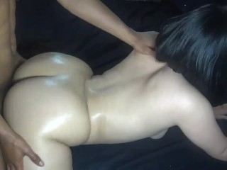 Slutty step sister gets fucked by brother after BF drop's her off from date