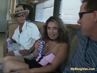 her first rough bangvan orgy