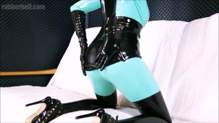 Obedient latex doll sucking master's cock till the end  perfect blowjob bdsm masturbate cumshot fetish kink rubber latex latex fetish blowjob swallow blowjob cum in mouth cum in mouth rubber and latex latex sex latex catsuit