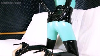 Obedient latex doll sucking master's cock till the end  latex sex perfect blowjob bdsm masturbate cumshot rubber and latex fetish kink rubber latex latex fetish blowjob swallow blowjob cum in mouth cum in mouth latex catsuit