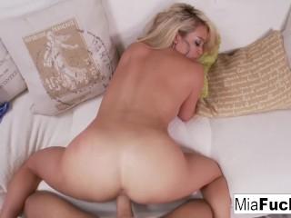 Mia gets her pussy fucked hard