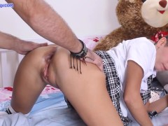 Stepfather punished naughty stepdaughter for Masturbation