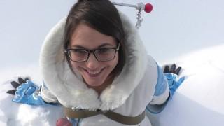 Public Overwatch Mei Blowjob in Snow