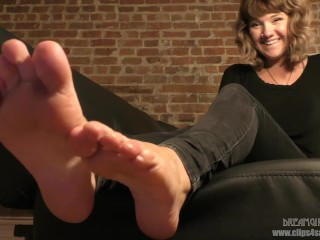 London's Feet in Your Face - (Dreamgirls in Socks)