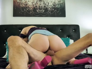 Spizoo - Riley Nixon suck and fuck a big dick, big booty & big boobs
