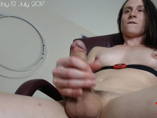 Masturbating with a heart rate monitor - chest strap 7/12
