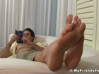 Jets Dress Socks and Manly Feet looks so mouthwatering
