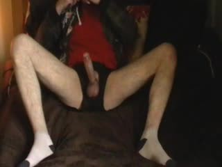 big oiled up cock edge jerk-off cum in white socks