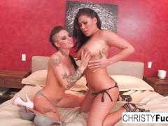 Christy Mack and London Keyes take on Ramon's huge cock