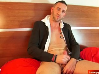 Male masturbator to handsome suited guy serviced in spite of him a porn.