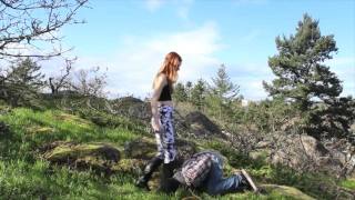 BALLBUSTING! Eric & Chaiyles now on Clips4Sale! CBT, Trampling, Femdom  cbt outside trample redhead femdom public young kink domme petite feet socks ballbusting trampling teenager tights