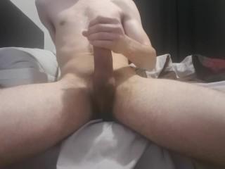 Solo Male w/ Big Dick feeding huge load
