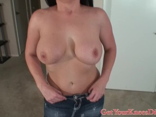 KIKI DAIRE GIVING HEAD AND A TIT FUCK TO A SMALL COCK