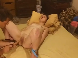 Arms and legs tied togather then i eat that pussy to it was wt