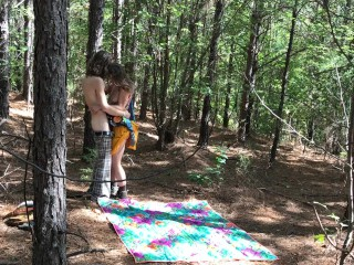 Sexy Hippies Fucking Outdoors In the Woods At A Festival
