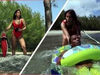 BANGBROS - Latina Lifeguard Valerie Kay Rescues A Big Black Cock