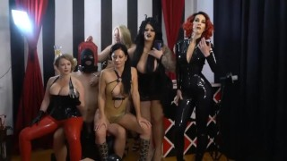 latex bi-sex femdom mistress party hardcore domination group sex  ass fuck dominatrix slave bdsm boots femdom fetish milf bisexual kink heels latex mistress group piss drinking mistress t