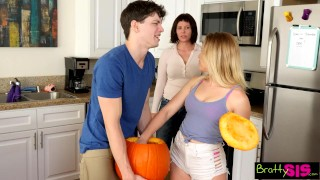 Bratty Sis - step Brother Fucks step Sister Right Next To Mom! S3:E11  family sex step siblings point of view big cock blonde caught aubrey sinclair young hardcore brattysis teenager nice ass cream pie step brother natural tits step sister