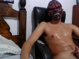 Hot sexy sweaty mexican wanks his beautiful cock