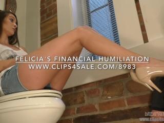 Felicia's Financial Humiliation - (Dreamgirls in Socks)